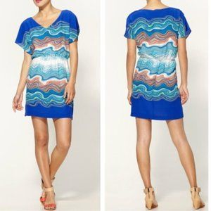 Trina Turk Caspian Agate Swirl Silk Dress